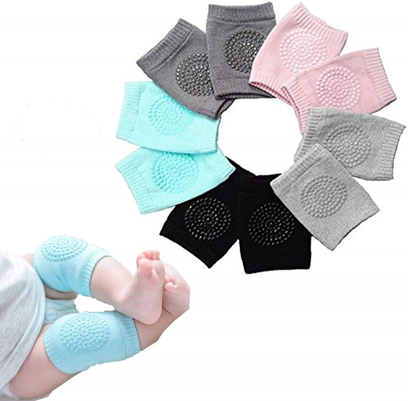 Importikaah Baby Knee Pads for Crawling, Anti-Slip Padded Stretchable Elastic Cotton Soft Breathable Comfortable Knee Cap Elbow Safety Protector