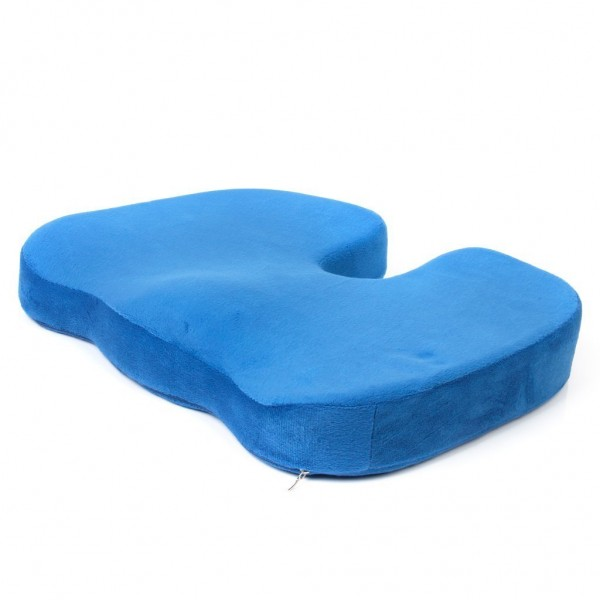 Importikaah Coccyx Orthopedic Memory Foam Seat Cushion Pad Lumbar Support Pillow For Lower Back Tailbone Pain and Back Support